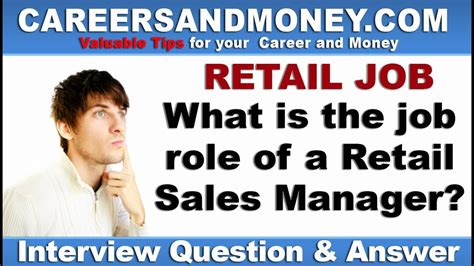 what is the of a retail sales manager retail