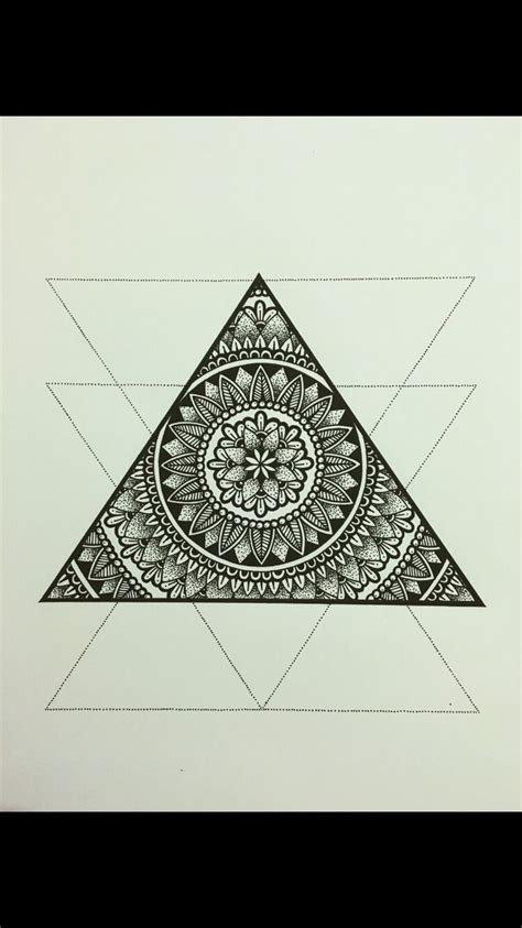 geometric triangle tattoo top 25 best geometric mandala ideas on