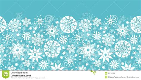 abstract snowflakes seamless pattern background royalty decorative snowflake frost horizontal seamless stock