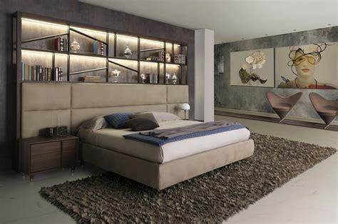 letto libreria letto design in legno con libreria e led idfdesign