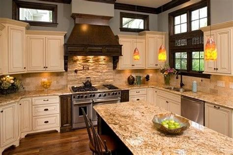 what color granite goes with cream cabinets colorful kitchen backsplash ideas matching colour and