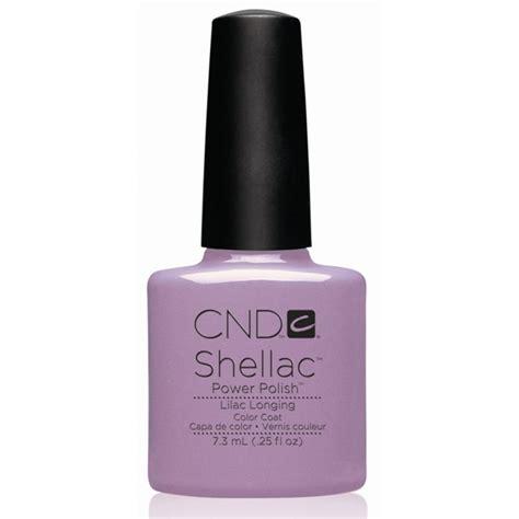 cnd l bulbs cnd shellac uv color coat lilac longing l gel nails