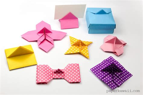Origami Money Holder - origami place card holder paper kawaii