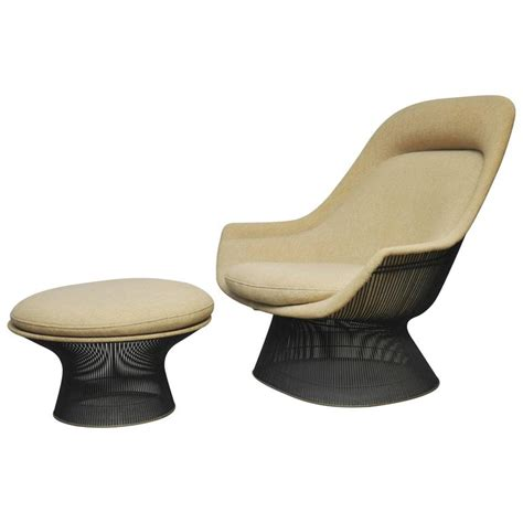 Platner Dining Chair Warren Platner Bronze Lounge Chair With Ottoman For Knoll At 1stdibs