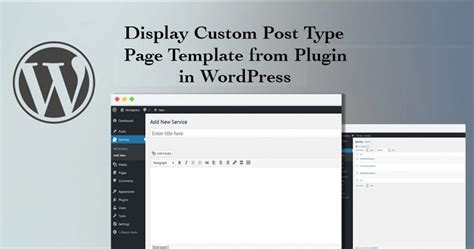 Display Custom Post Type Page Template From Plugin Pradip Debnath Custom Post Type Template