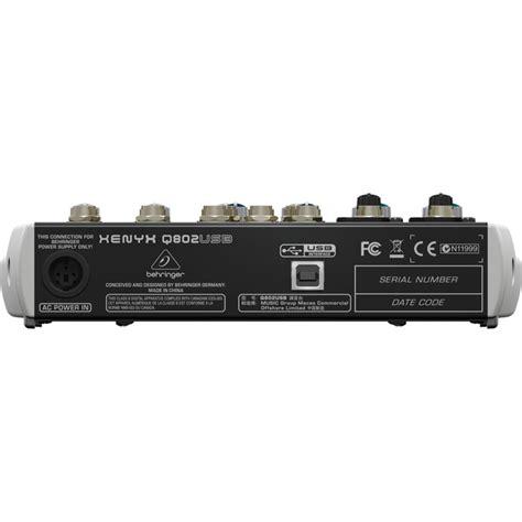 Behringer Xenyx Q802usb Mixer behringer xenyx q802usb usb mixer nearly new at