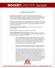 property manager agreement template property management agreement form free template with sle