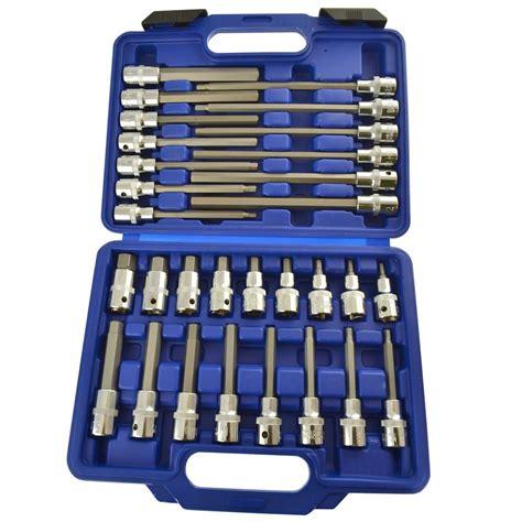 Hex Bit Socket 4mm 1 2 Lippro Diskon hex allen key bit socket set 1 2 quot drive shallow and 5mm 19mm bergen at087 ebay