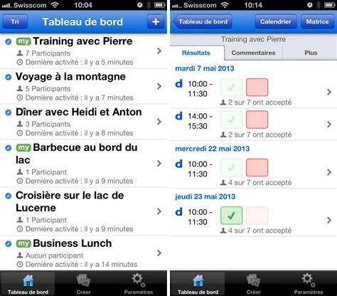 doodle schedule iphone doodle iphone et l appli de planning gratuite pour