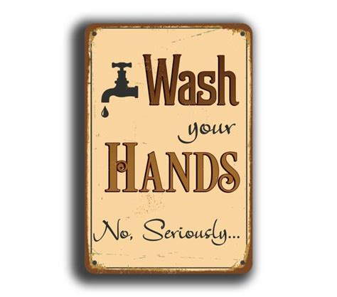 bathroom signs wash your hands wash your hands sign restroom signs classic metal signs