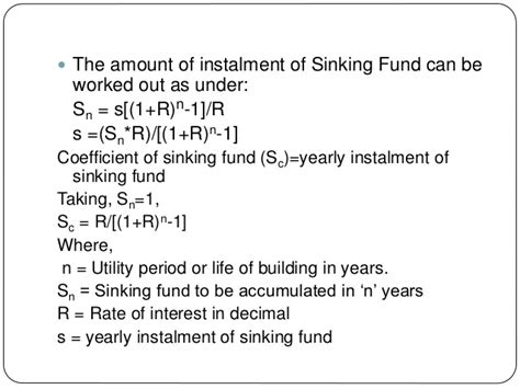 Sinking Fund Definition chapter 13 valuation