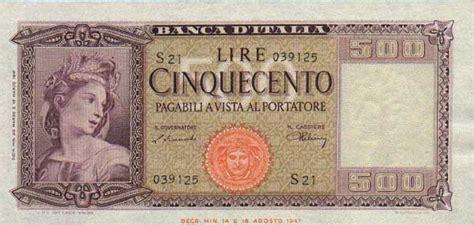 banche norvegesi le banconote in lire dagli anni 40 al 2000
