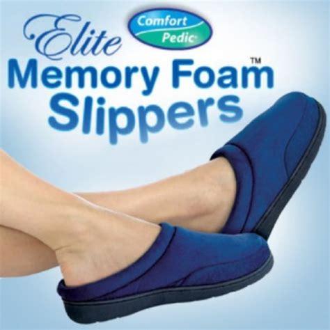 comfort pedic comfort pedic memory foam slippers as seen on tv gifts