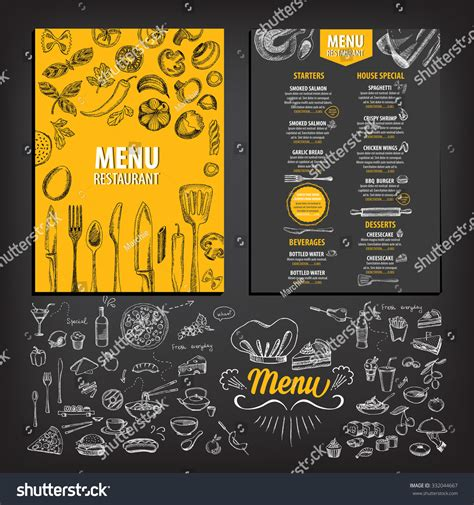 sle restaurant brochure vector restaurant brochure menu design vector stock vector