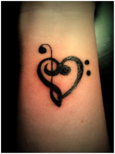 music heart tattoo designs 52 tattoos on wrist