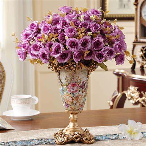 Living Room Flower Vase by Creative European Style Retro Resin Vase Home Furnishing Decoration Living Room Dining Room
