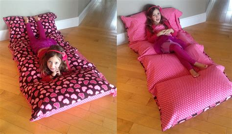 Pillow Beds For Kids | pillow mattress my first big sewing project dabbles