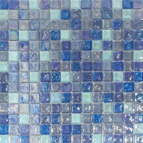 hammered light blue mix glass mosaic 20x20 glass mosaic tiles from tile mountain
