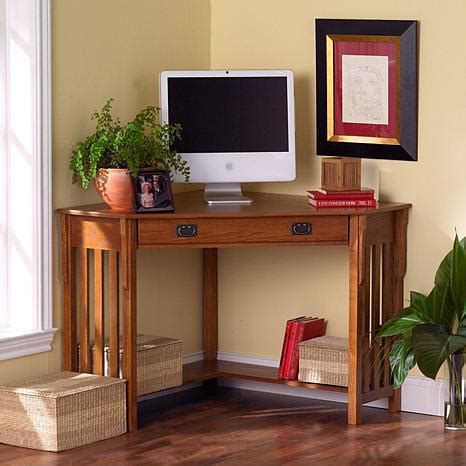 Oak Corner Computer Desks For Home Oak Corner Computer Desk 6408542 Hsn