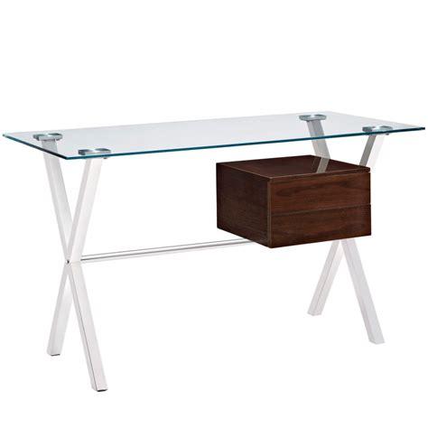 Glass Top Writing Desk Hostgarcia Small Glass Top Desk