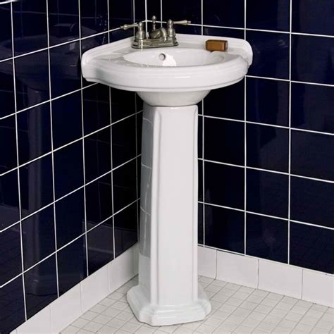 Corner Pedestal Sinks For Small Bathrooms Sinks And 20 Fascinating Bathroom Pedestal Sinks Home Design Lover