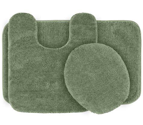 classic bath mat set green 2 set