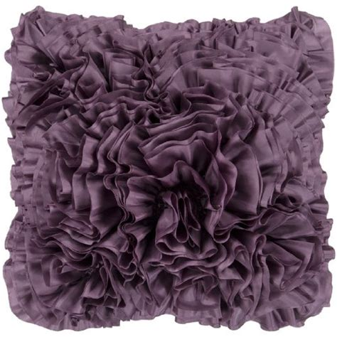 Plum Colored Throw Pillows by 18 Quot Purple Plum Lush Ruffle Decorative Throw Pillow