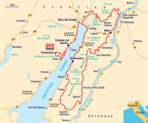 Motorradfahren In Italien by Motorradtouren Gardasee Karte My