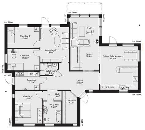 Plan De Dressing Chambre 2482 by Plan De Maison Ossature Bois Plain Pied Eb38 Jornalagora