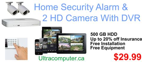 home security alarm service with 2 hd security cameras 29