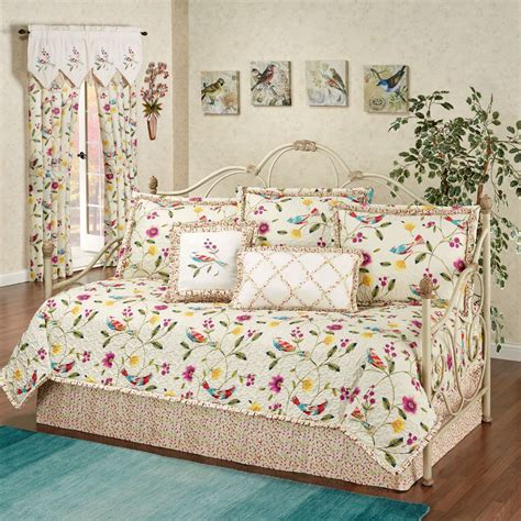 Daybed Bedding Sets Sweet Tweet Bird Floral Daybed Bedding Set