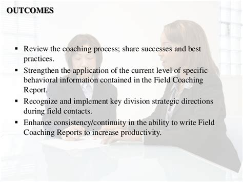 field coaching report template field sales conference report workshop presentation