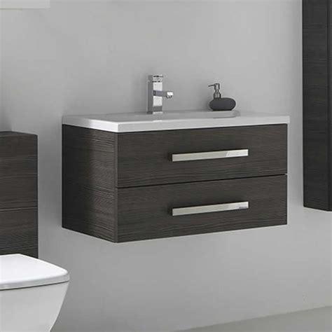 750mm Vanity Units For Bathroom Frontline Aquatrend Avola Grey 750mm Vanity Unit Basin
