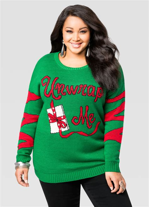 Sweaters Light Up by Light Up Unwrap Me Sweater Plus Size