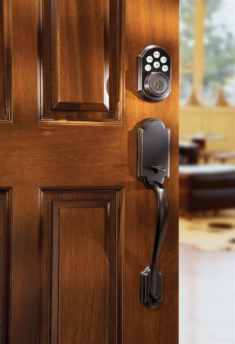 Front Door Handle With Keypad Kwikset 909 Smartcode Electronic Deadbolt Featuring