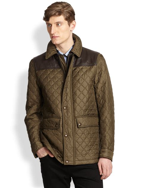 Burberry Quilt Jacket by Burberry Highgrove Quilted Jacket In Brown For