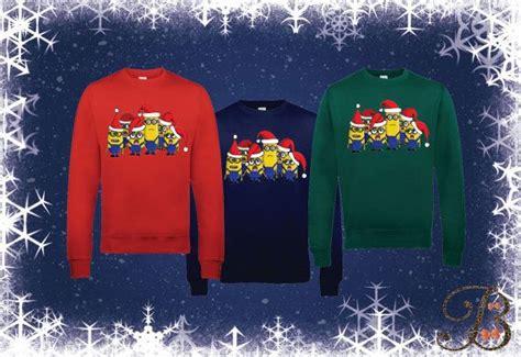 Despicable Me 21 Raglan minions festive jumper sweater mens