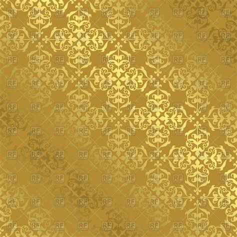 pattern gold gradient vintage gold pattern with gradient royalty free vector