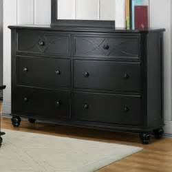 homelegance sanibel 6 drawer dresser in black beyond stores