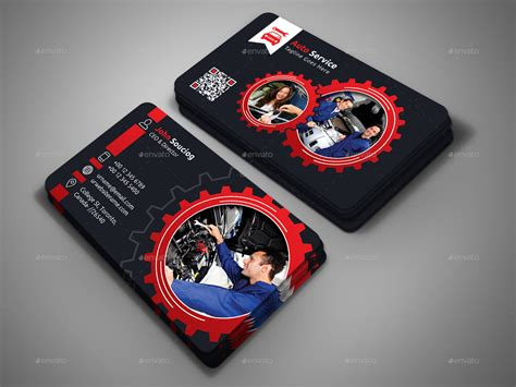 auto repair business card template auto service business card by designsign graphicriver