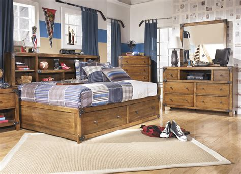 bed with bookcase footboard signature design by delburne bookcase bed with