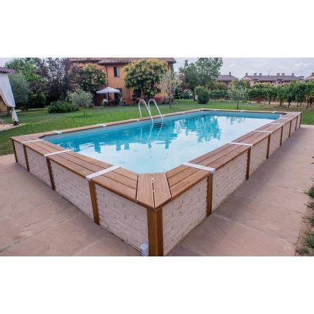 giardini con piscine fuori terra piscina fuori terra con rivestimento in pannelli finta