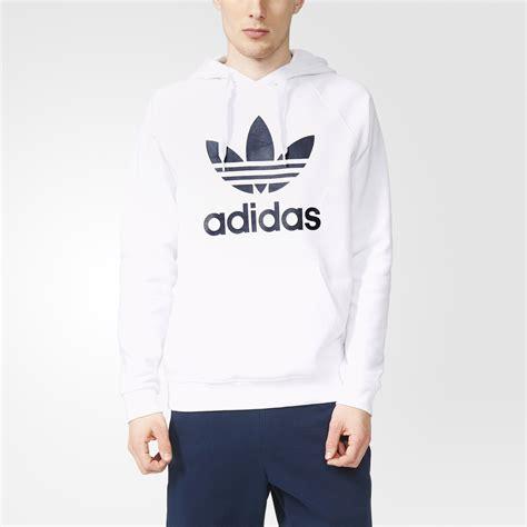 Adidas Trefoil Hoodie adidas trefoil hoodie white sweater tunic