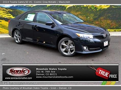 2014 Toyota Camry Se V6 Cosmic Gray Metallic 2014 Toyota Camry Se V6 Black Ash