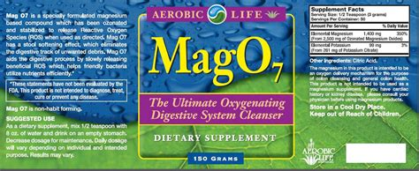 Does Mag07 Detox by Mag 07 Oxygen Colon Cleanse 150g Powder 163 33 99 From The