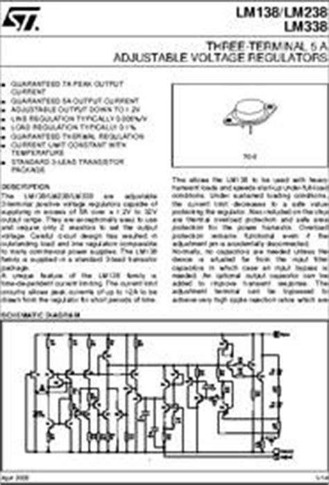 transistor lm338k datasheet lm338k datasheet three terminal 5 a adjustable voltage regulators