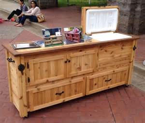 Outdoor Buffet Table Serving Cart Rustic Cooler Cabinet Outdoor Bar Bar Cabinet Sideboard
