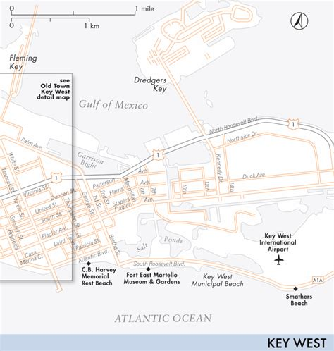 usa map key west map of key west key west fodor s travel guides
