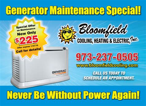 generator repairs maintenance sales installation