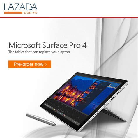 harga microsoft surface pro 4 terbaik dari lazada